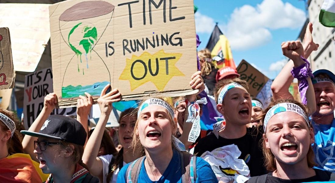 Demonstranter ved International Fridays for Future